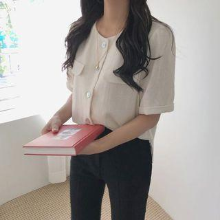 JAMIE BUTTON BLOUSE