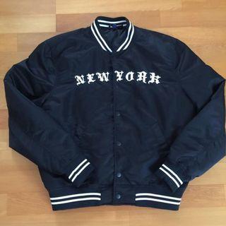H&M 刺繡棒球外套