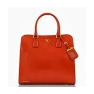 Prada BN2388 - Saffiano Leather Tote Bag in Orange Colour