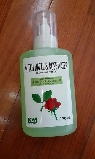 Witch hazel & rose water