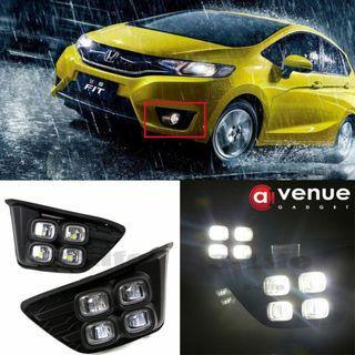 Honda Jazz 2014-2016 White Lamp LED Daytime Running Light DRL Fog Driving Bulbs
