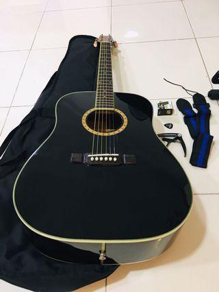 Washburn Guitar w/ Free Tuner, Bag, Capo, Strap, Pick