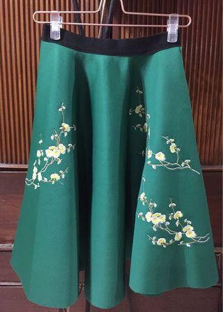 Green Flora Skirt Size M