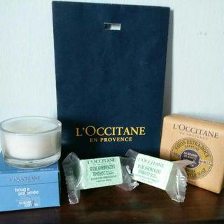 L'Occitane Gift Set - Scented Candle 25g), Bath Bomb X 2 (35g) And Verbena Soap (100gm)