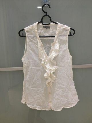 Tex women white sleeveless top