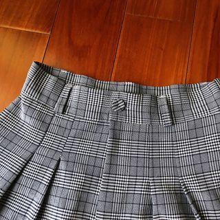 🚚 復古 灰色格紋高腰褲