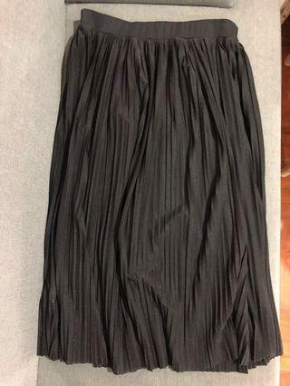 Mango black long skirt