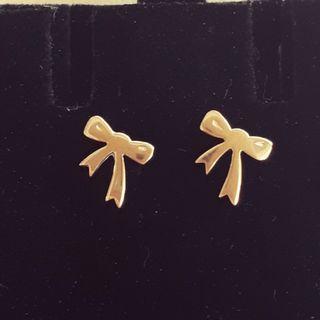 BRAND NEW GOLD KAREN WALKER BOW EARRINGS