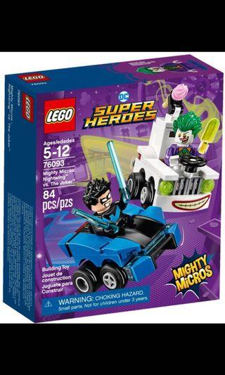 LEGO SUPER MARVEL HEROES DC COMICS MIGHTY MICROS 76093 Nightwing vs The Joker without Minifigures NEW
