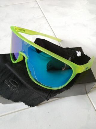 Oakley trillbe sunglasses translucent lime green