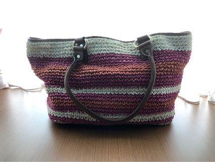 DKNY Straw Tote Bag