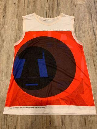 Zara Print Sleeveless Tee