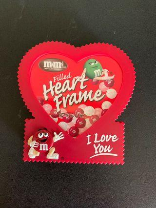 m&m's valentine photo frame