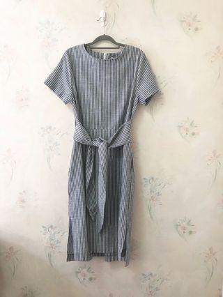 韓國 PPA PPA 白灰連身裙