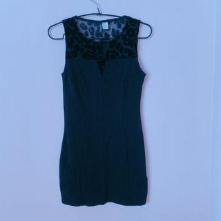 BN H&M Babycon Black Mini Dress Mini mesh