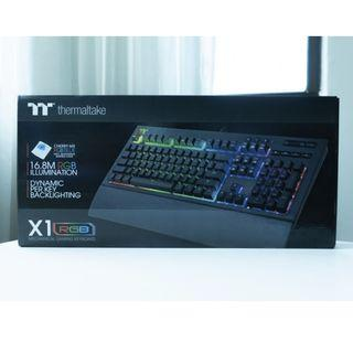 Thermaltake TT Premium X1 RGB | Premium Cherry MX Blue/Silver Gaming Keyboard