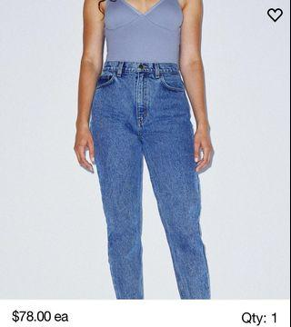 American apparel high waisted mom jeans