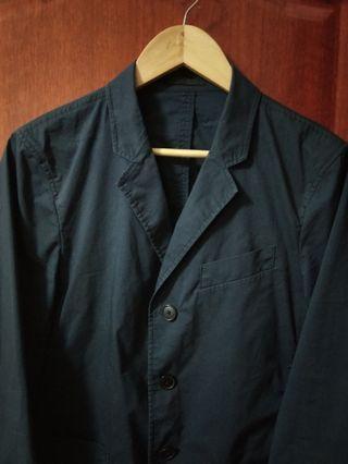 🚚 uniqlo 休閒西裝外套 輕便西裝外套夾克 深藍