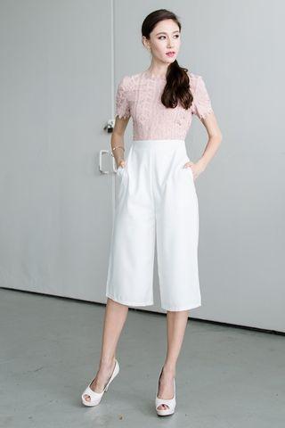 🚚 Selfridge Crochet culotte romper in Pink
