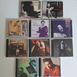 Ella Fitzgerald, Billie Holiday, Harry Connick Jr., Diana Krall, Chet Baker & Lisa Ono CD Collection
