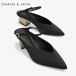 Charles and Keith Metallic Mules