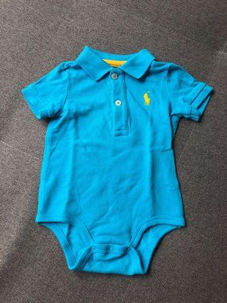 Ralph Lauren baby romper with collar