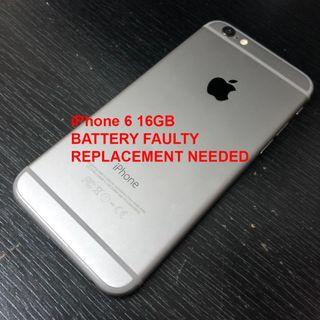 iPhone 6 16GB (Battery Faulty)