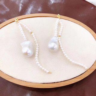 巴洛克一款二戴珍珠耳環