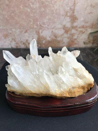 天然白水晶晶簇