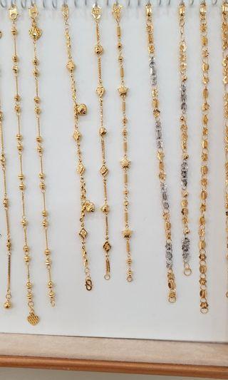 916 solid gold ladies bracelets