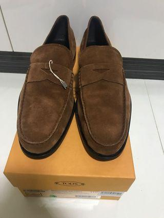 BN Tods suede loafers US 12.5