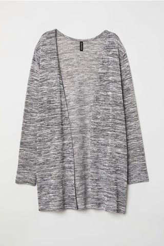 H&M Knit Cardigan in Black and White