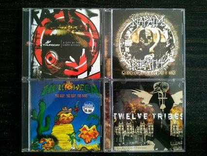 CD's | Thusday,Napalm Death,Helloween,Twelve Tribe