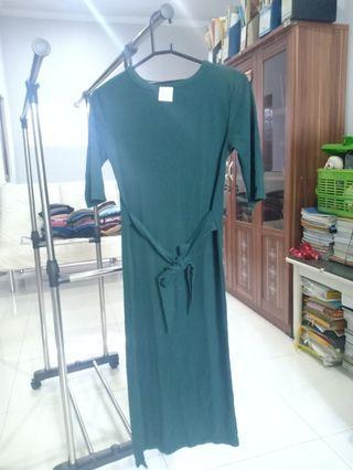 Bodycon dress hijau botol