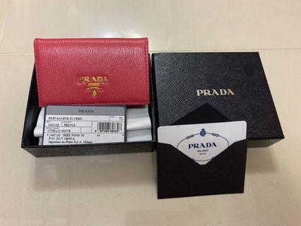 🚚 Prada 粉色大容量名片夾