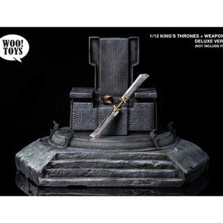 PO: woo toys 1/12 scale king thrones with weapon set (Deluxe version)