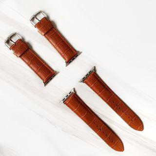 🚚 [READY STOCK] Genuine Leather High quality Apple watch straps for series 3 38mm/40mm/42mm/44mm iwatch srries 4 3 2 1