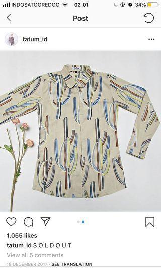Tatum Cactus Light Green Shirt