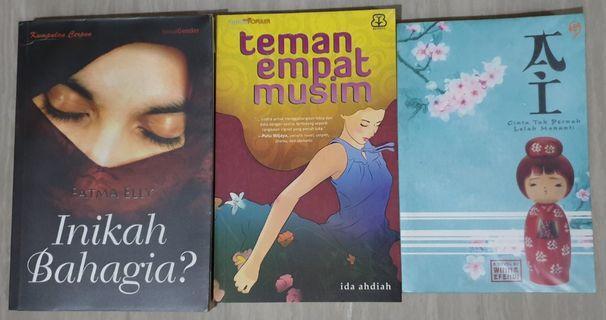 Novel Fiksi Indonesia 1 Set Isi 3 Buku (Pre-Owned)