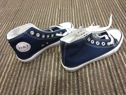 SNEAKERS WOMEN/KIDS/SMALL SIZE WITH LACES - 501(NAVY)