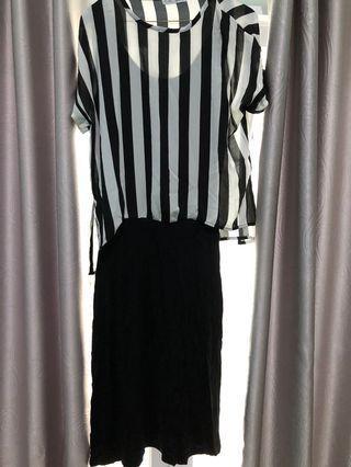 Mididress Stripe