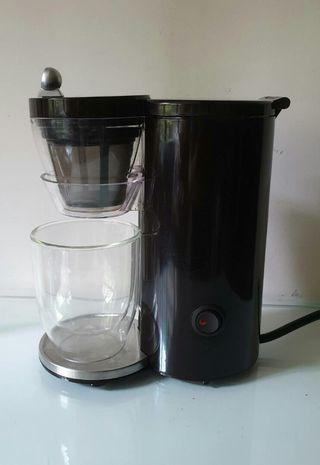 🚚 Recolte 日本麗克特Solo Kaffe單杯咖啡機 (棕) 附雙層玻璃杯