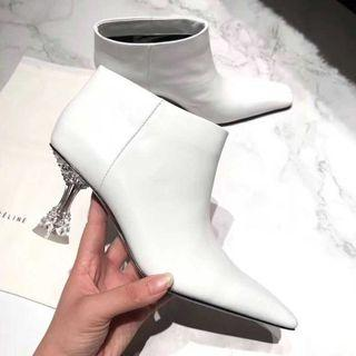 2018 celine facetted low heel ankle boots