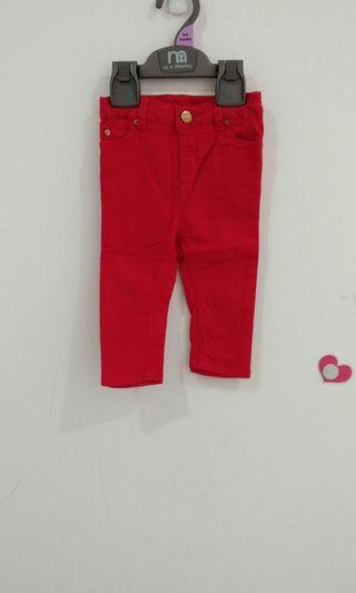 6-12M Poney Red Jeans