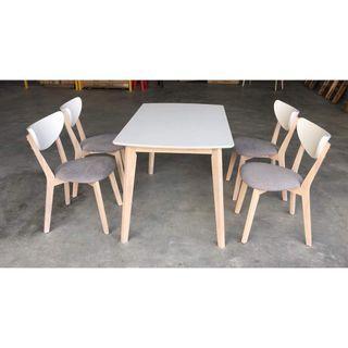 PROMO RAYA 4+1 dining table set (FREE POSTAGE) NO COD