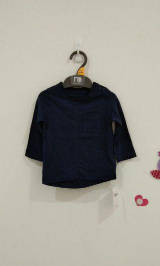 🆕3-6M Mothercare Navy Tee