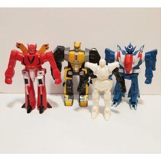 Bandai 忍者戰士 飛影 4隻 中古品 膠公仔 完成品 Popy sofubi vinyl figure medicom evolution toys bullmark
