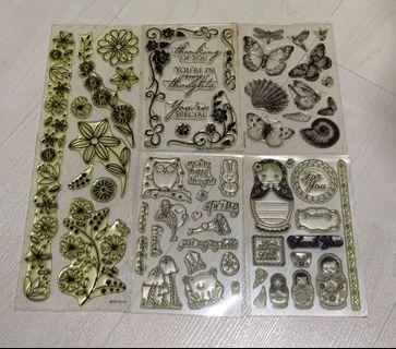 🚚 Lot of used Clear Stamps (11 sets)
