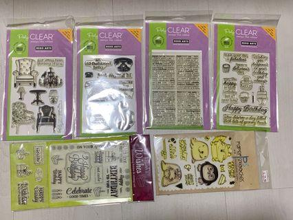 🚚 Lot of 15 clear stamps (repositionable)