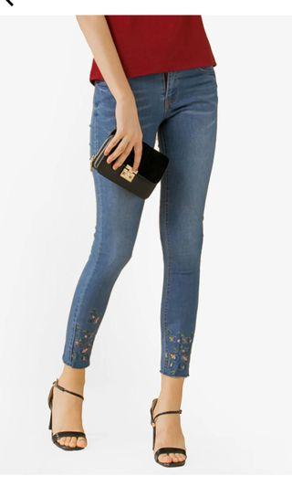 BNWT Embroidery Skinny Jeans